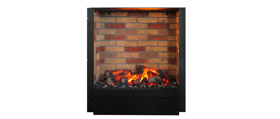 Mystic Fires RF 20 insert with brick-effect